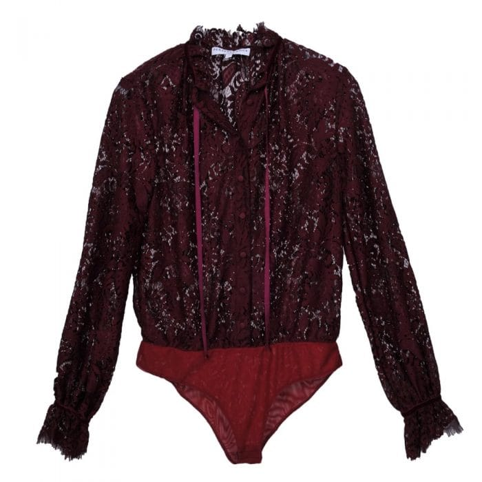 Perseverance London Lace Body in Burgundy