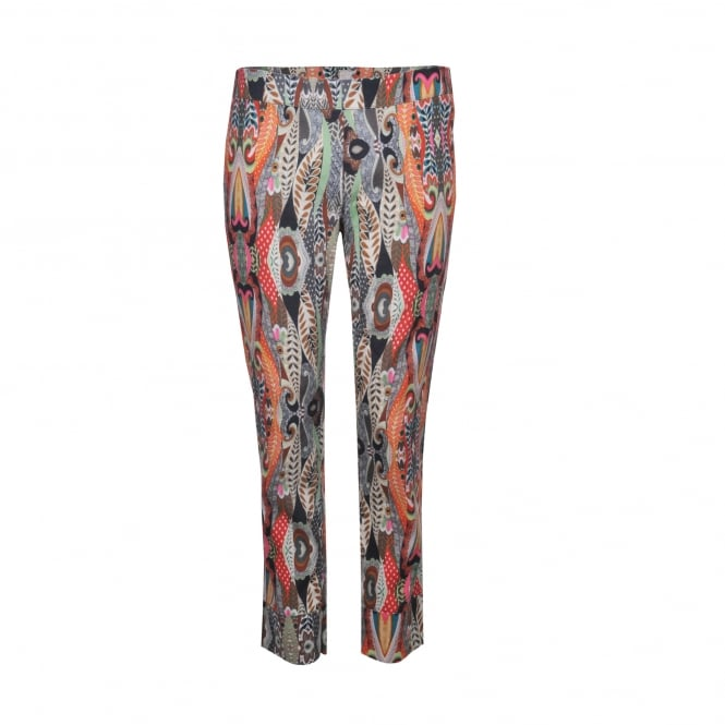 120% Lino African Print Linen Pant