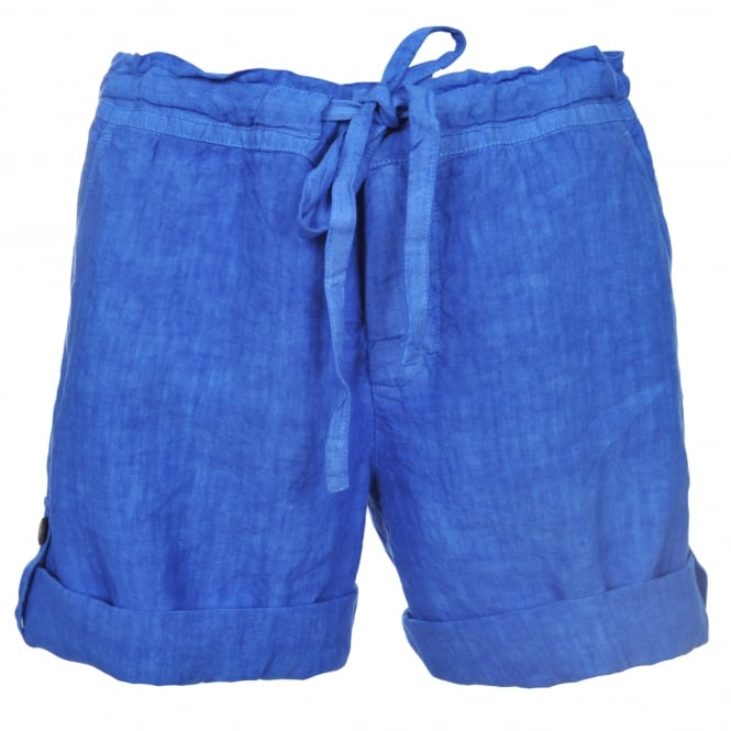 120% Lino Bermuda Shorts in Elecrtic Blue