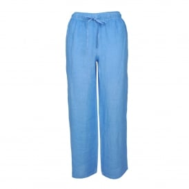 Drawstring Pant in Azure Blue