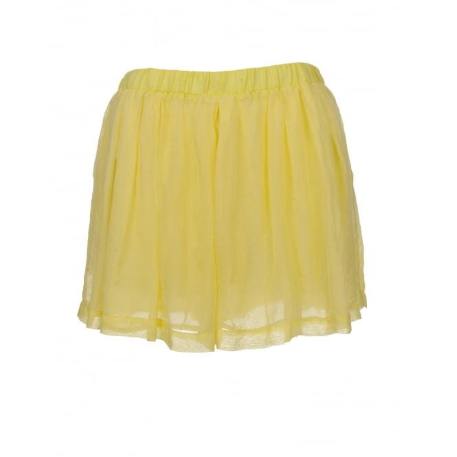 120% Lino Lemon Linen and Chiffon Shorts