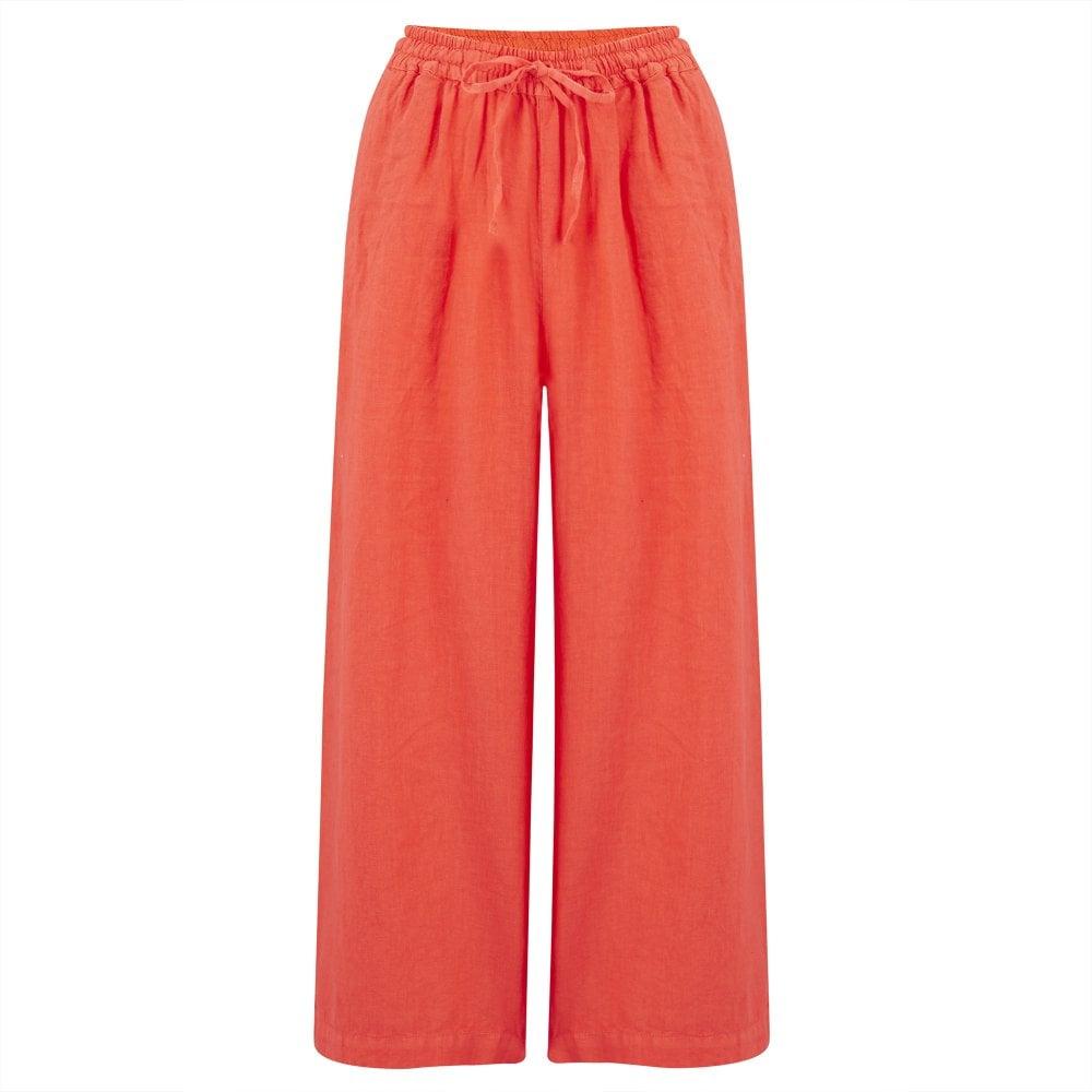 62156289e7 120% Lino Linen Drawstring Pants in Tulip