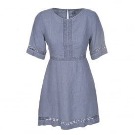 Short Sleeve Dress in Medium Grey