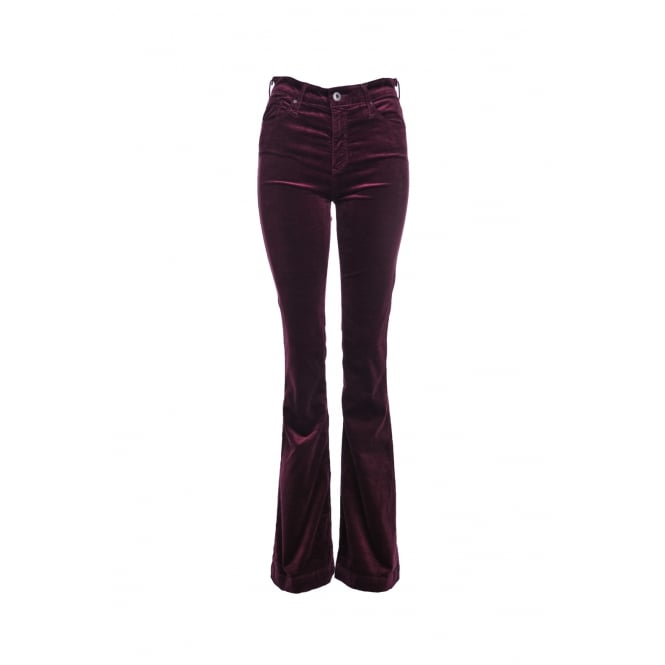 AG Jeans Janis High Rise Flare in Wine