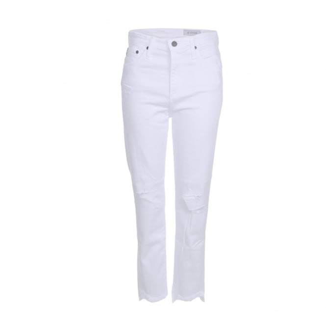 AG Jeans Phoebe 5 Years Frayed in White