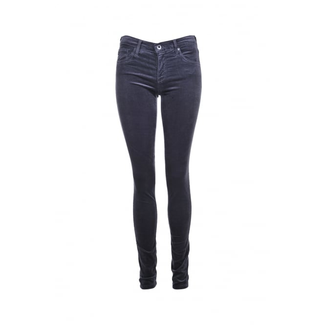 AG Jeans The Legging in Grey Velvet