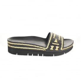 Tribal Brazil Black & Gold Sandal