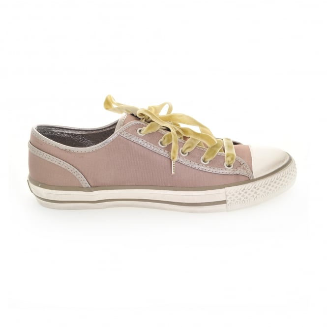 Ash Viper Satin Trainer in Taupe
