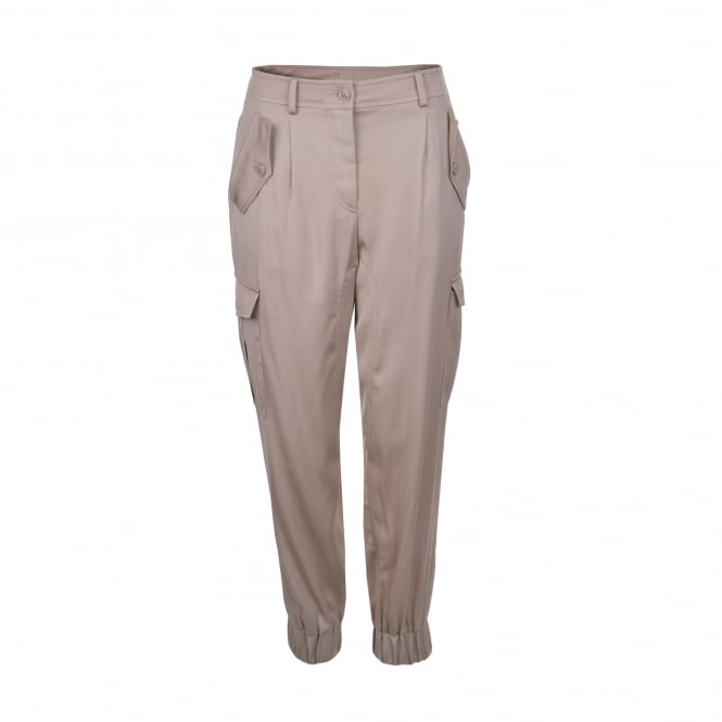Boutique Moschino Beige Elasticated Cuff Cargo Pant