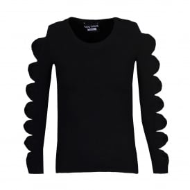 Boutique Moschino Black Bow Sleeve Sweater