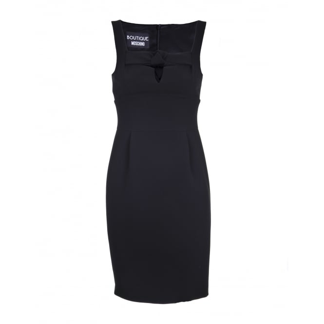 Boutique Moschino Black Knot Front Dress