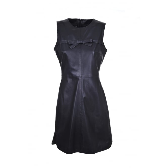 Boutique Moschino Black Leather Dress