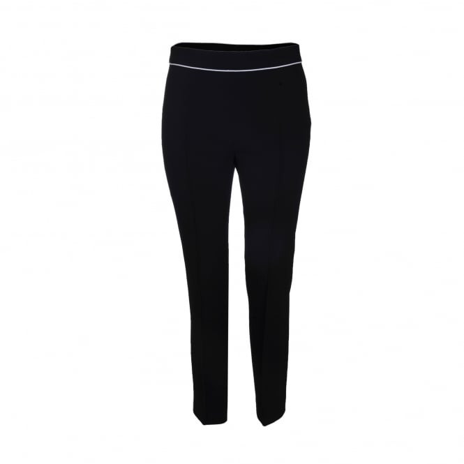 Boutique Moschino Black Pant with White Trim