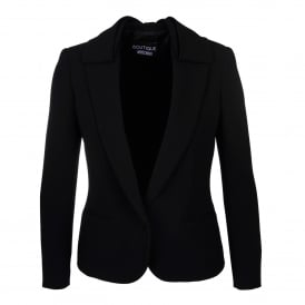 Boutique Moschino Bow Detail Black Jacket