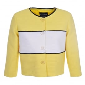 Boxy Yellow Stripe Jacket