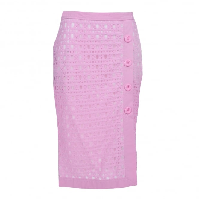Boutique Moschino Button Detail Pink Skirt
