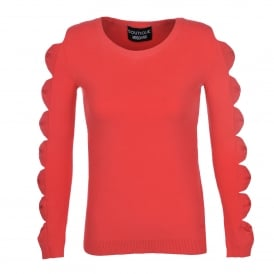 Boutique Moschino Coral Bow Sleeve Sweater