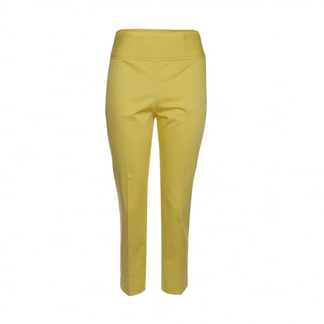 Boutique Moschino Cotton Crop Pant in Yellow
