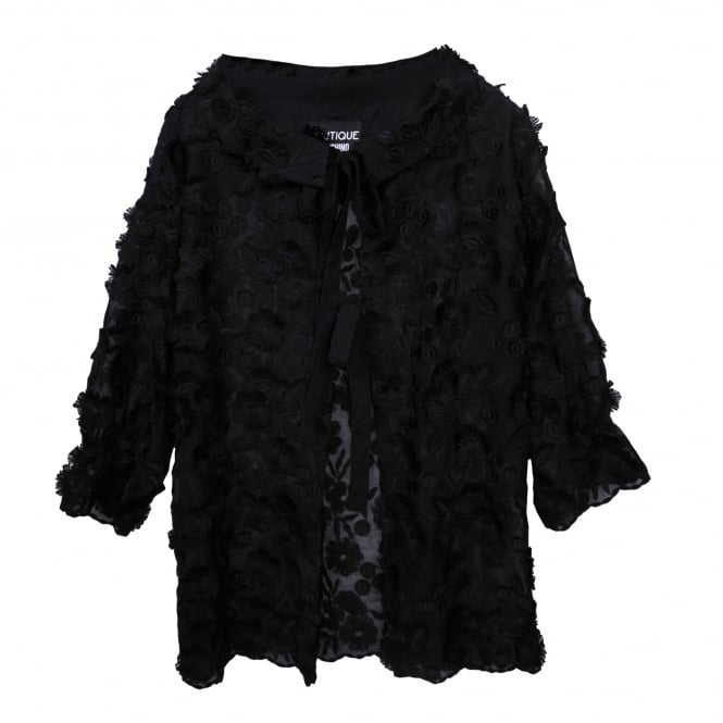 Boutique Moschino Embroidered Black Jacket