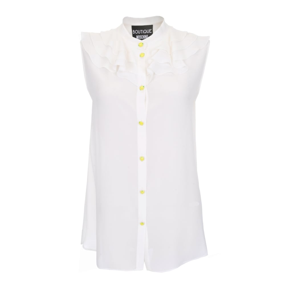 5b8cf87303701 Boutique Moschino Frill Front Sleeveless Blouse | Stanwells