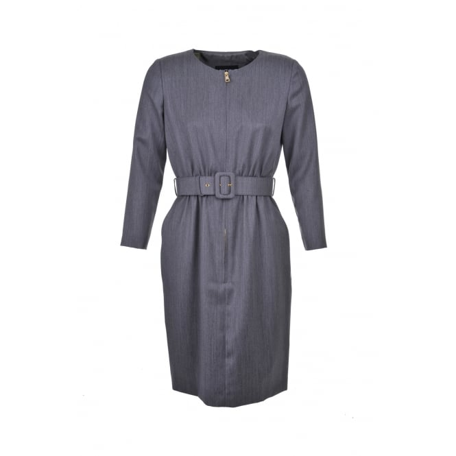Boutique Moschino Grey Zip Detail Dress