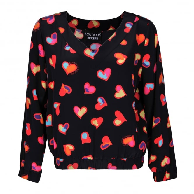 Boutique Moschino Heart Print Top