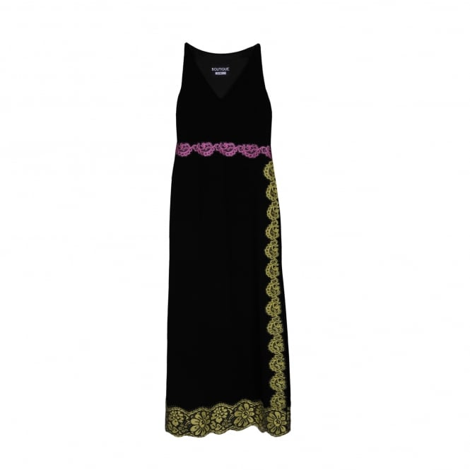 Boutique Moschino Lace Detail Maxi Dress