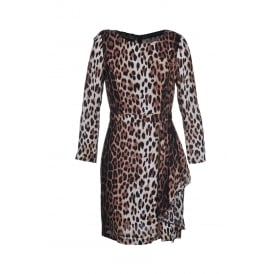 Boutique Moschino Leopard Zip Dress