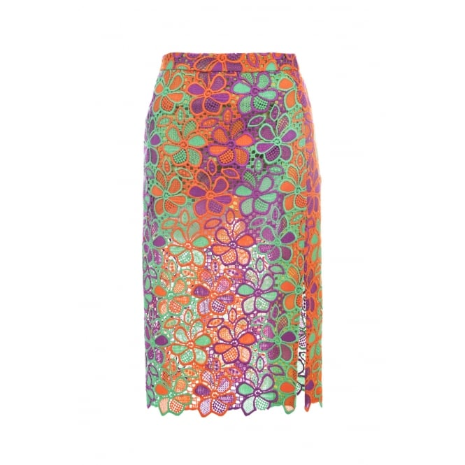 Boutique Moschino Multi Coloured Lace Skirt