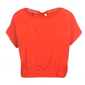 Boutique Moschino Orange Waisted Top