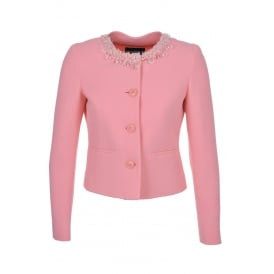 Boutique Moschino Pink Embellished Jacket