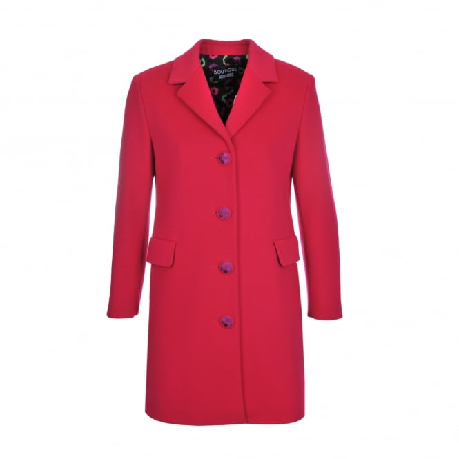 Boutique Moschino Pink Wool and Cashmere Coat