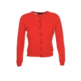 Boutique Moschino Red Cardi