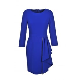 Boutique Moschino Royal Blue Zip Dress
