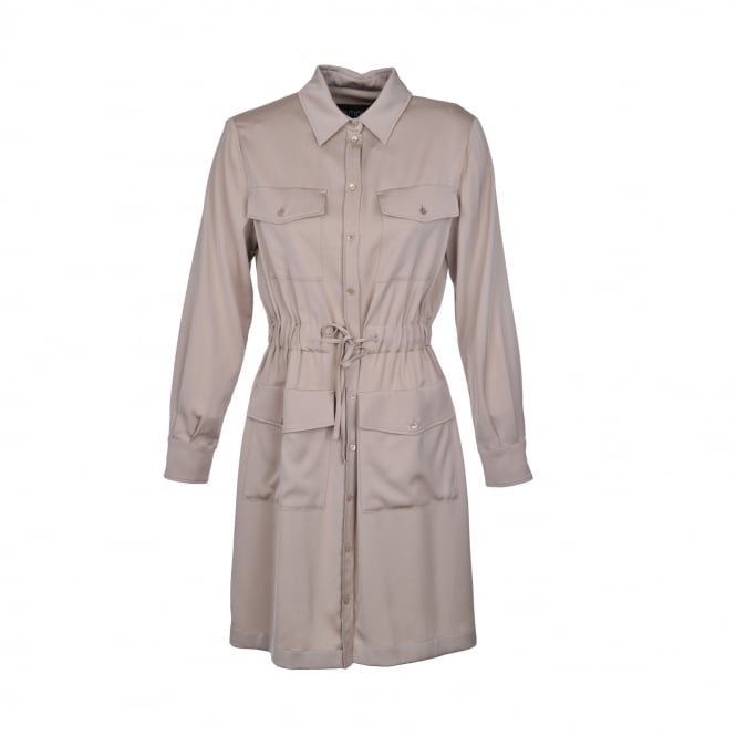 Boutique Moschino Shirt Dress in Sand