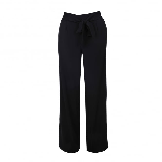 Boutique Moschino Tie Waist Black Pant