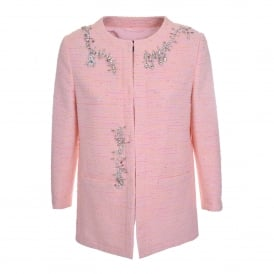 Tweed Coat in Pink