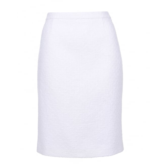 Boutique Moschino Tweed White Skirt