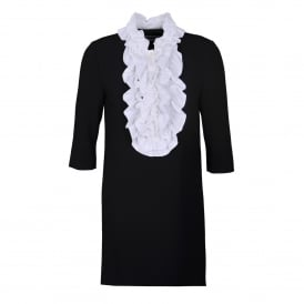 Boutique Moschino White Ruffle Front Dress