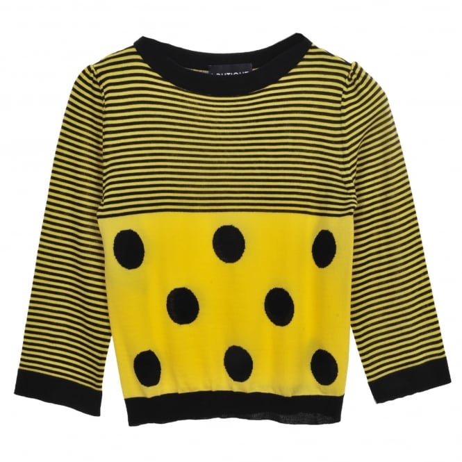 Boutique Moschino Yellow and Black Sweater