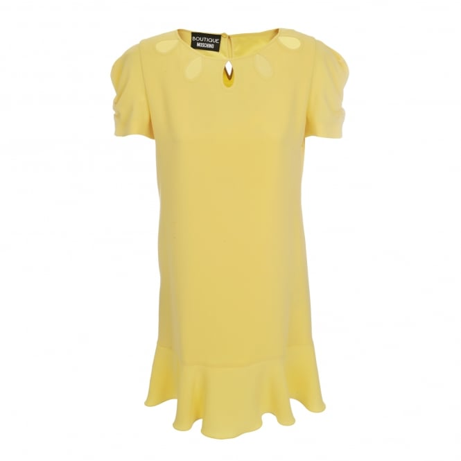 Boutique Moschino Yellow Short Sleeve Dress
