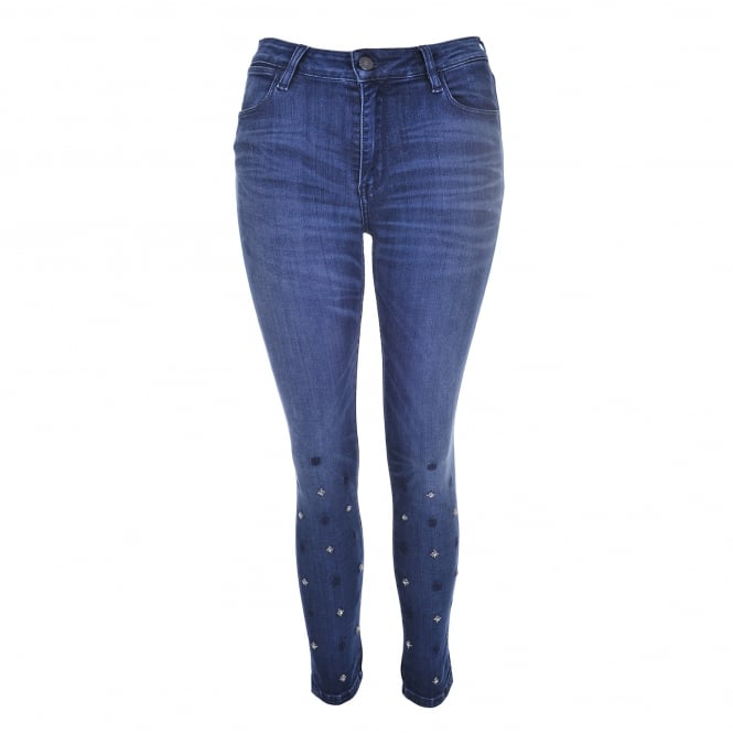 Brockenbow Star Ice Reina Jeans in Riviera Blue