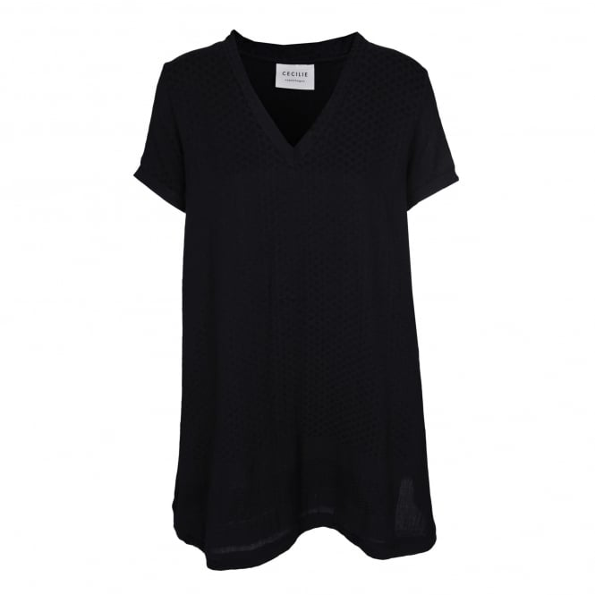 Cecilie Copenhagen Short Sleeve Black Dress