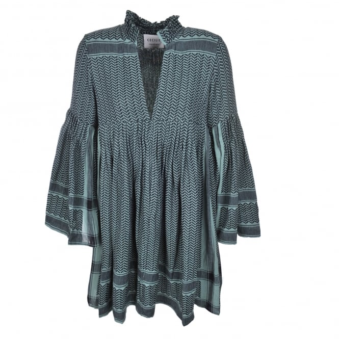 Cecilie Copenhagen Souza Dress in Green & Black