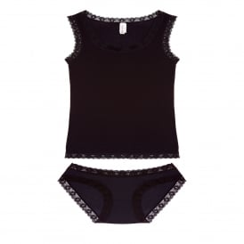 Vest and Knicker Set in Black