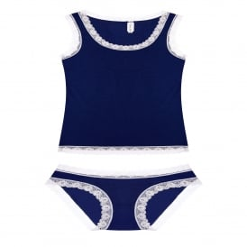 Vest and Knicker Set in Navy