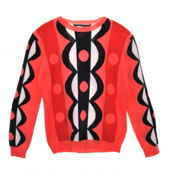Chinti and Parker Abstract Scalloped Cashmere Sweater