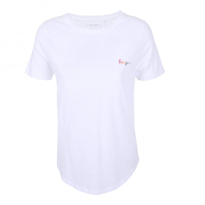 Chinti and Parker Bonjour Embroidered Tee