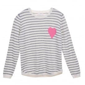 Breton Stripe Heart Sweater