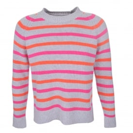 Breton Sweater in Silver Pink & Orange